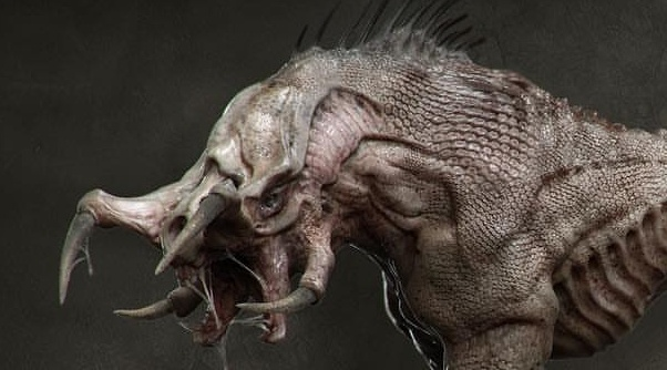 Another unused Predator dog concept by Kyle Brown