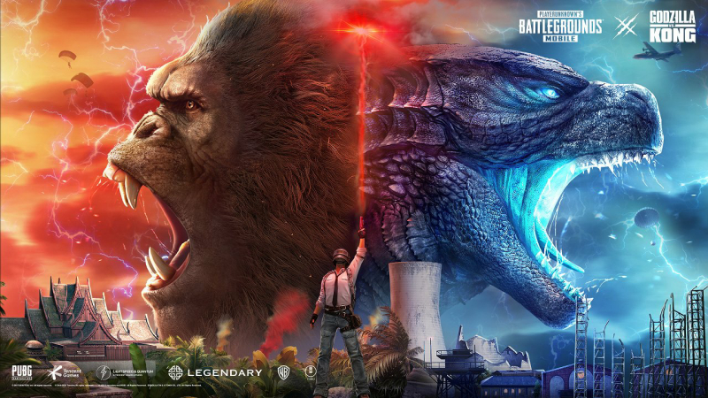 Interact with Godzilla, Kong, Skullcrawlers and more this month on PUBG MOBILE!